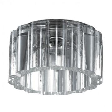 Встраиваемый светильник Novotech Vetro 369603, 1xG9x40W, хром, прозрачный, металл, хрусталь