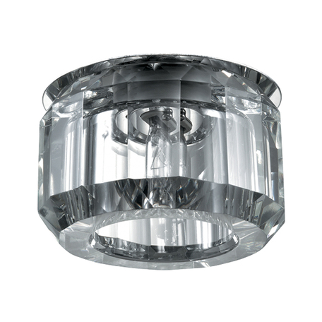 Встраиваемый светильник Novotech Vetro 369604, 1xG9x40W, хром, прозрачный, металл, хрусталь