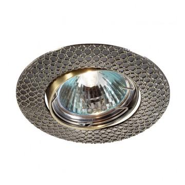 Встраиваемый светильник Novotech Dino 369623, 1xGU5.3x50W, бронза, металл