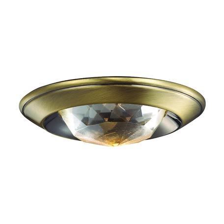 Встраиваемый светильник Novotech Glam 369649, 1xGU5.3x50W, бронза, прозрачный, металл, хрусталь