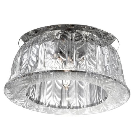 Встраиваемый светильник Novotech Arctica 369669, 1xG9x40W, хром, прозрачный, металл, хрусталь