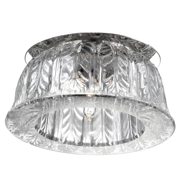 Встраиваемый светильник Novotech Arctica 369669, 1xG9x40W, хром, прозрачный, металл, хрусталь - фото 1
