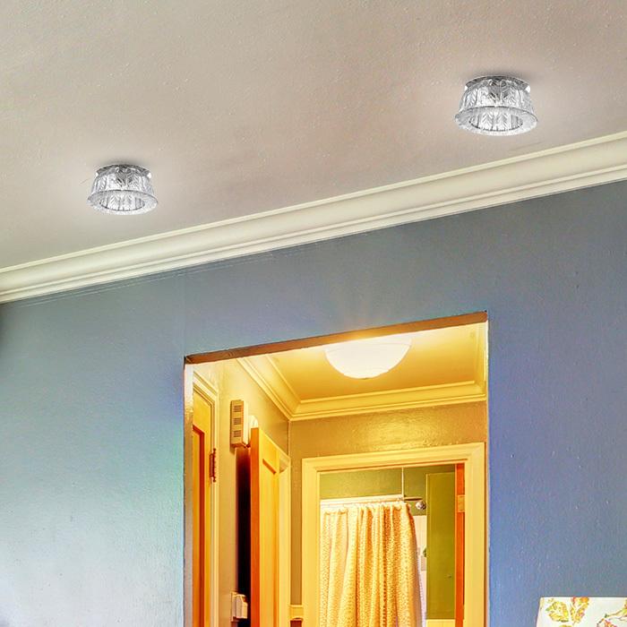 Встраиваемый светильник Novotech Arctica 369669, 1xG9x40W, хром, прозрачный, металл, хрусталь - фото 2