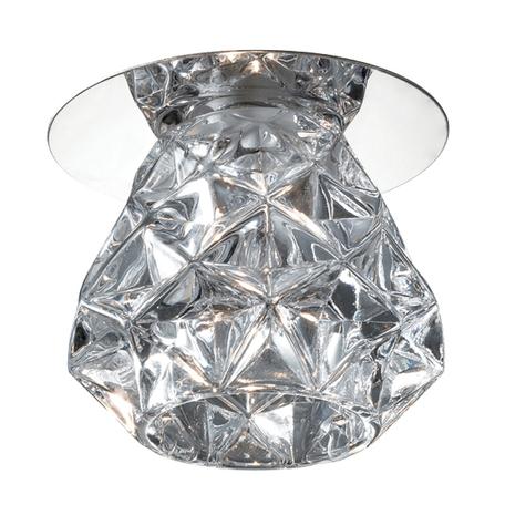 Встраиваемый светильник Novotech Crystal 369673, 1xG4x20W, хром, прозрачный, металл, хрусталь