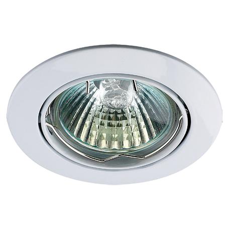 Встраиваемый светильник Novotech Crown 369100, 1xGU5.3x50W, белый, металл