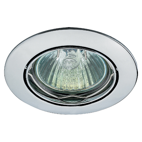 Встраиваемый светильник Novotech Spot Crown 369101, 1xGU5.3x50W, хром, металл