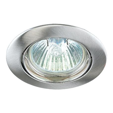 Встраиваемый светильник Novotech Spot Crown 369103, 1xGU5.3x50W, никель, металл