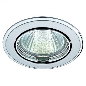 Встраиваемый светильник Novotech Spot Crown 369104, 1xGU5.3x50W, матовый хром, металл