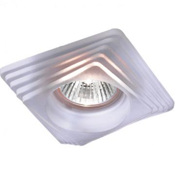 Встраиваемый светильник Novotech Spot Glass 369126, 1xGU5.3x50W, белый, стекло