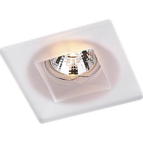 Встраиваемый светильник Novotech Glass 369212, 1xGU5.3x50W, белый, стекло