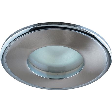 Встраиваемый светильник Novotech Spot Aqua 369302, IP65, 1xGU5.3x50W, никель, металл, стекло