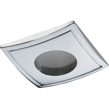 Встраиваемый светильник Novotech Spot Aqua 369307, IP65, 1xGU5.3x50W, хром, металл, стекло