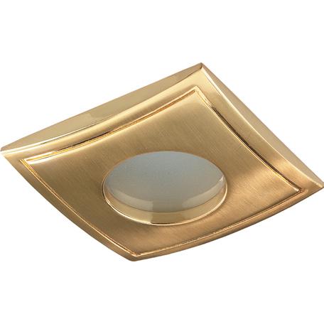 Встраиваемый светильник Novotech Spot Aqua 369308, IP65, 1xGU5.3x50W, золото, металл, стекло