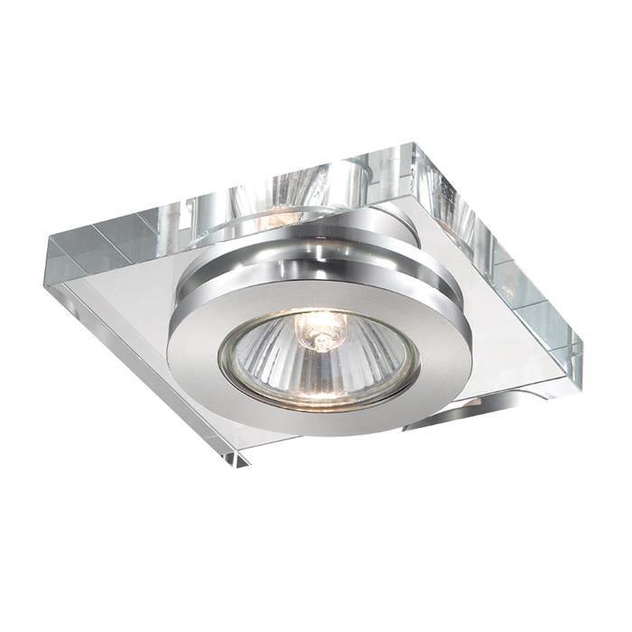 Встраиваемый светильник Novotech Spot Cosmo 369408, 1xGU5.3x50W, хром, прозрачный, хрусталь - фото 1