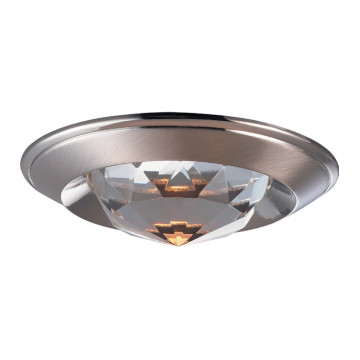 Встраиваемый светильник Novotech Spot Glam 369426, 1xGU5.3x50W, никель, прозрачный, металл, хрусталь