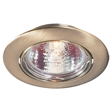 Встраиваемый светильник Novotech Spot Crown 369429, 1xGU5.3x50W, бронза, металл
