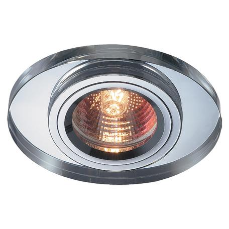 Встраиваемый светильник Novotech Spot Mirror 369437, 1xGU5.3x50W, хром, зеркальный, хрусталь