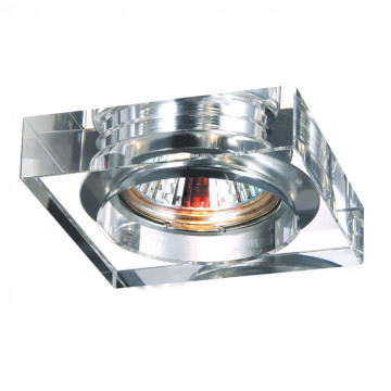 Встраиваемый светильник Novotech Spot Glass 369482, 1xGU5.3x50W, хром, прозрачный, хрусталь