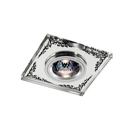 Встраиваемый светильник Novotech Mirror 369543, 1xGU5.3x50W, хром, зеркальный, хрусталь