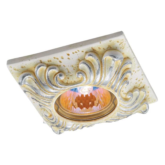 Встраиваемый светильник Novotech Sandstone 369569, 1xGU5.3x50W, желтый, песчаник - фото 1