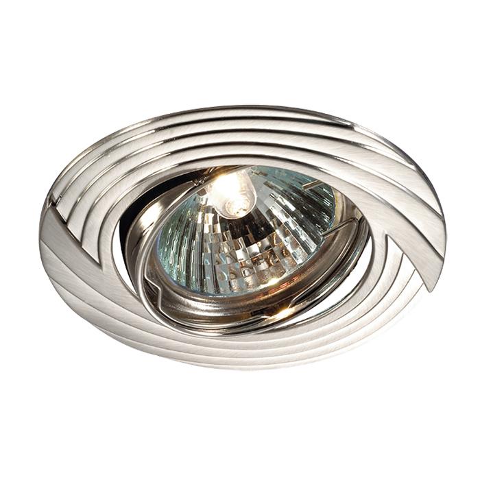 Встраиваемый светильник Novotech Trek 369612, 1xGU5.3x50W, никель, металл - фото 1