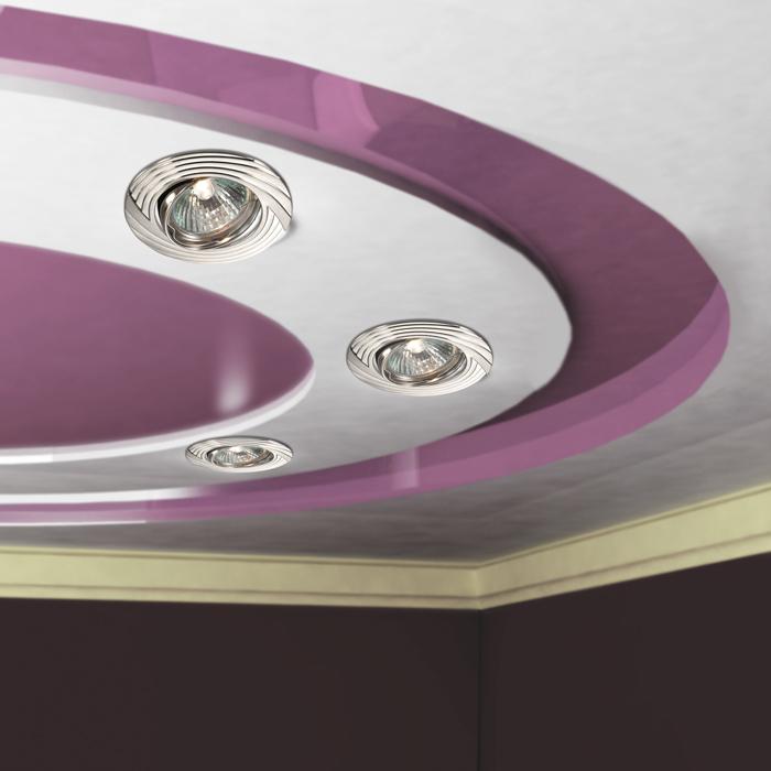 Встраиваемый светильник Novotech Trek 369612, 1xGU5.3x50W, никель, металл - фото 2