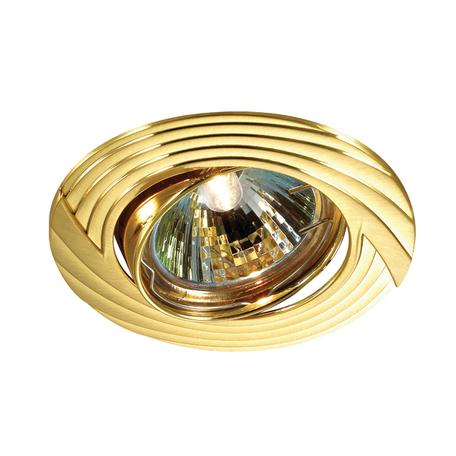 Встраиваемый светильник Novotech Trek 369613, 1xGU5.3x50W, золото, металл