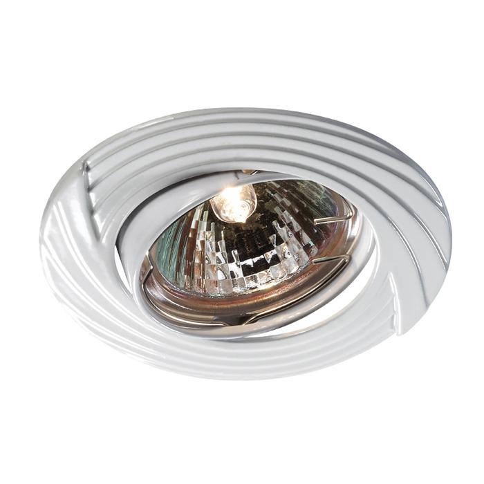 Встраиваемый светильник Novotech Trek 369614, 1xGU5.3x50W, белый, металл - фото 1