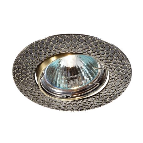 Встраиваемый светильник Novotech Spot Dino 369623, 1xGU5.3x50W, бронза, металл