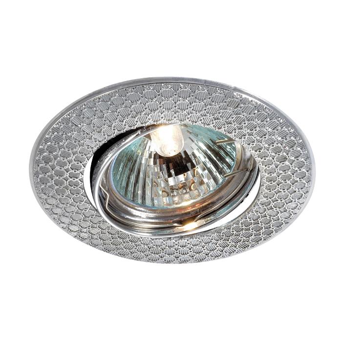 Встраиваемый светильник Novotech Spot Dino 369625, 1xGU5.3x50W, хром, металл - фото 1
