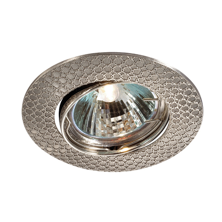 Встраиваемый светильник Novotech Spot Dino 369626, 1xGU5.3x50W, никель, металл