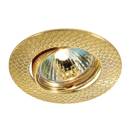 Встраиваемый светильник Novotech Spot Dino 369627, 1xGU5.3x50W, золото, металл