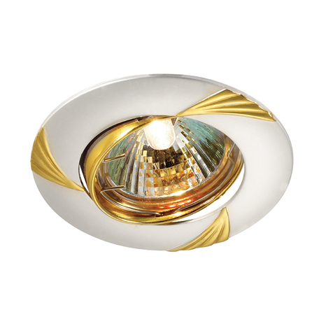 Встраиваемый светильник Novotech Trek 369629, 1xGU5.3x50W, хром, золото, металл