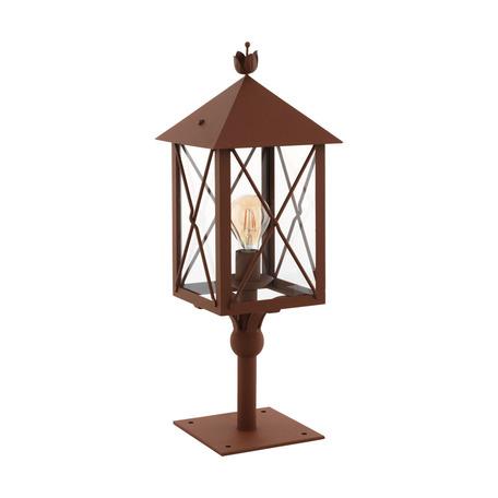 Садово-парковый светильник Eglo Gaudesi 64758, IP44, 1xE27x60W, коричневый, прозрачный, металл, металл со стеклом