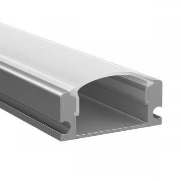 Накладной профиль для светодиодной ленты с рассеивателем Lightstar LED Strip Profiles 409429, алюминий, белый, металл, пластик