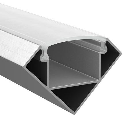 Накладной угловой профиль для светодиодной ленты с рассеивателем Lightstar LED Strip Profiles 409629, алюминий, белый, металл, пластик