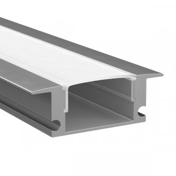 Встраиваемый профиль для светодиодной ленты с рассеивателем Lightstar LED Strip Profiles 409529, алюминий, белый, металл, пластик