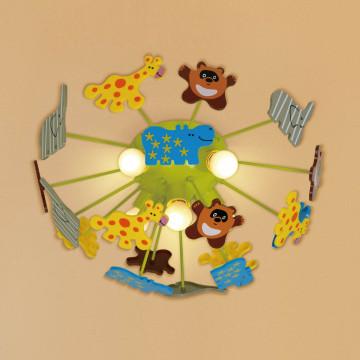 Потолочная люстра Citilux Зоопарк CL602151, 5xE14x60W, разноцветный, металл, пластик