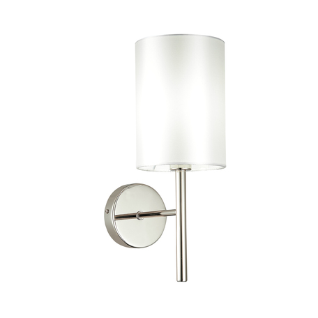 Бра Evoluce Noia SLE107301-01, 1xE14x40W, никель, белый, металл, текстиль