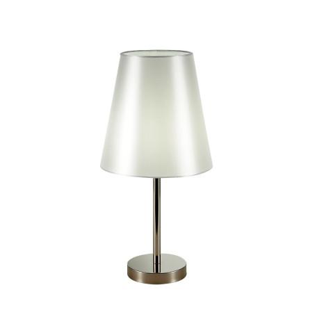 Настольная лампа Evoluce Bellino SLE105904-01, 1xE14x40W, никель, белый, металл, текстиль