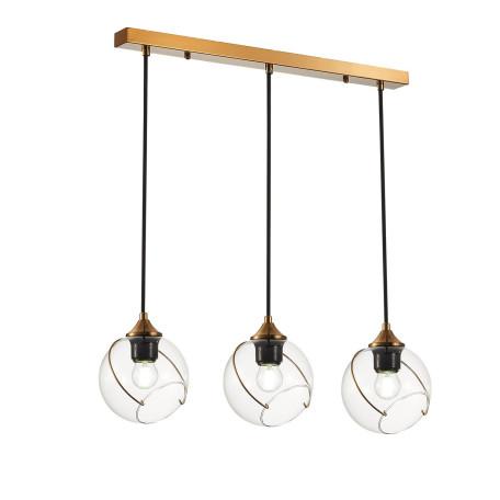 Подвесной светильник Evoluce Satturo SLE103103-03, 3xE27x60W, матовое золото, прозрачный, металл, стекло