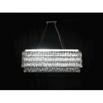 Подвесная люстра Newport 10120 10128+8/S (М0057345), 16xG9x60W, хром, прозрачный, металл, хрусталь