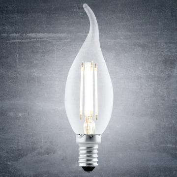 Филаментная светодиодная лампа Eglo 11497 свеча на ветру E14 4W, 2700K (теплый), гарантия 5 лет