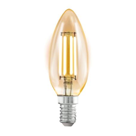 Филаментная светодиодная лампа Eglo 11557 свеча E14 4W, 2200K (теплый) CRI>80, гарантия 5 лет