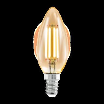 Филаментная светодиодная лампа Eglo 11557 свеча E14 4W, 2200K (теплый), гарантия 5 лет