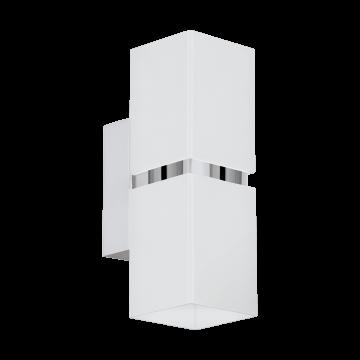 Настенный светильник Eglo Passa 95377, 2xGU10x3,3W, хром, белый, металл