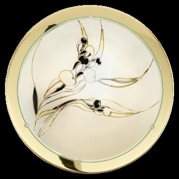 Потолочный светильник Eglo Planet 3 83199, 1xE27x60W, золото, белый, черный, металл, стекло - миниатюра 1