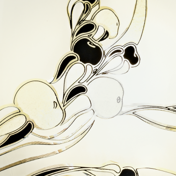 Потолочный светильник Eglo Planet 3 83199, 1xE27x60W, золото, белый, черный, металл, стекло - миниатюра 2