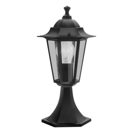 Садово-парковый светильник Eglo Laterna 4 22472, IP44, 1xE27x60W, черный, прозрачный, металл, металл со стеклом