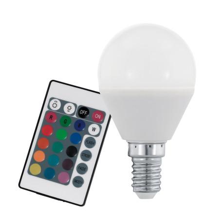 Светодиодная лампа Eglo 10682 шар малый E14 4W, 3000K/RGB (теплый) CRI>80, гарантия 5 лет